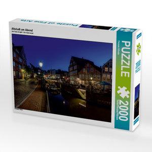 Altstadt am Abend 2000 Teile Puzzle quer