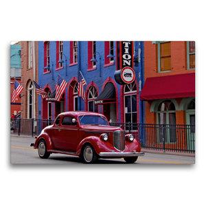 Premium Textil-Leinwand 75 cm x 50 cm quer Central City