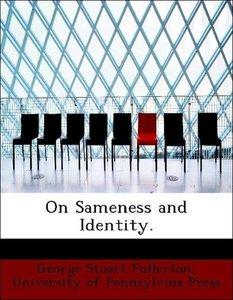 On Sameness and Identity.