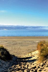 Premium Textil-Leinwand 30 cm x 45 cm hoch Strand von Wangerooge