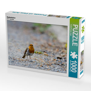 Rotkehlchen 1000 Teile Puzzle quer