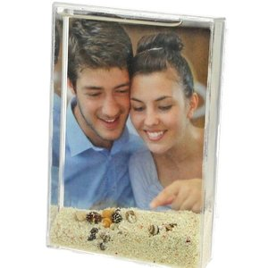 3D Bilderrahmen Sand, Muschel