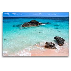 Premium Textil-Leinwand 120 cm x 80 cm quer Pink Coral Beach - B