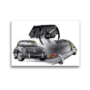 Premium Textil-Leinwand 45 cm x 30 cm quer Porsche 356 C
