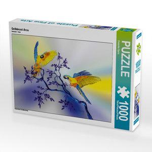 Gelbbrust Aras 1000 Teile Puzzle quer