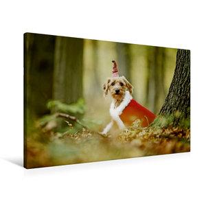 Premium Textil-Leinwand 90 cm x 60 cm quer Weihnachtswichtel