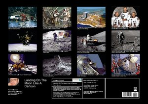 Landing On The Moon Like A Cartoon (Posterbuch DIN A2 quer)