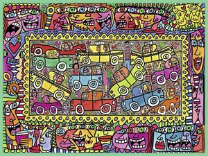James Rizzi, We\'re on our way to your Party (Puzzle)