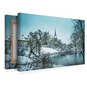 Premium Textil-Leinwand 45 cm x 30 cm quer Schloss Ahorn bei Cob