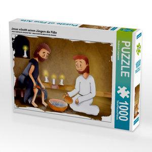 Jesus wäscht seinen Jüngern die Füße 1000 Teile Puzzle quer