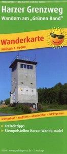 """PUBLICPRESS Wanderkarte Harzer Grenzweg - Wandern am \""""Grünen Ba"""