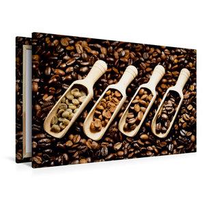 Premium Textil-Leinwand 120 cm x 80 cm quer Duftende Kaffebohnen