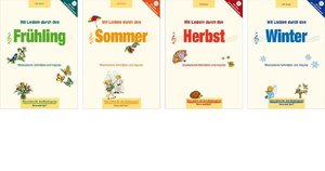 Super-Paket Mit Liedern durch die Jahreszeiten, 4 Bde.