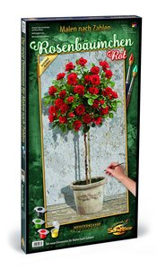 Schipper 609220776 - Malen Nach Zahlen, Rosenbäumchen Rot
