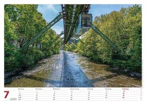 Wuppertal Schwebebahn 2020 Bildkalender A3