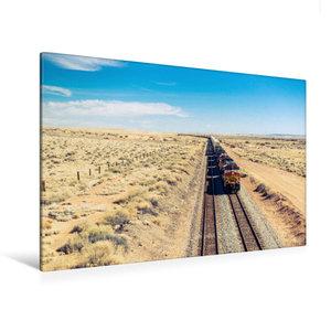 Premium Textil-Leinwand 120 cm x 80 cm quer Pacific Railroad