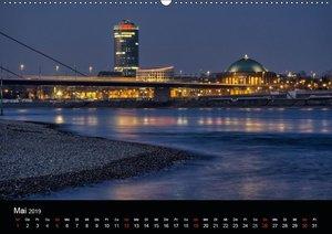 Düsseldorf - Rheinansichten (Wandkalender 2019 DIN A2 quer)