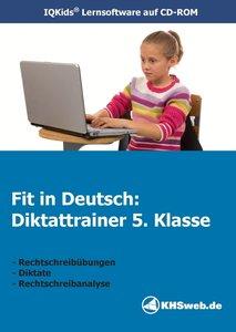 Fit in Deutsch: Diktattrainer. 5. Klasse. CD-ROM für Windows 95/