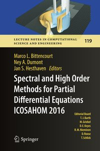 Spectral and High Order Methods for Partial Differential Equatio
