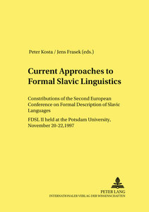 Current Approaches to Formal Slavic Linguistics