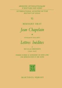 Jean Chapelain Soixante-Dix-Sept Lettres Inedites a Nicolas Hein