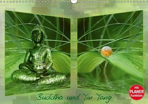 Buddha und Yin Yang (Wandkalender 2019 DIN A3 quer)