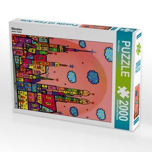 München 2000 Teile Puzzle hoch