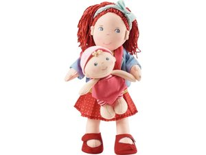 HABA 301525 - Puppe Rubina mit Baby