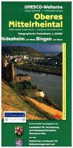 Welterbe Oberes Mittelrheintal 3. Rüdesheim/Bingen 1 : 25 000. T