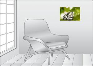 Premium Textil-Leinwand 45 cm x 30 cm quer Weiße Baumnymphe