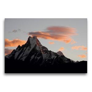 Premium Textil-Leinwand 75 cm x 50 cm quer Der heilige Berg Mach