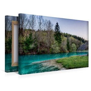 Premium Textil-Leinwand 45 cm x 30 cm quer Der blaue See