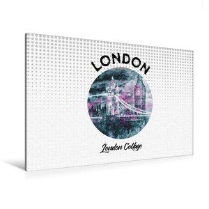 Premium Textil-Leinwand 120 cm x 80 cm quer Graphic-Art LONDON L