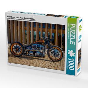 HD 1800 ccm Black Pearl Monarch Bobber 1000 Teile Puzzle quer