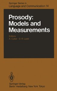 Prosody: Models and Measurements