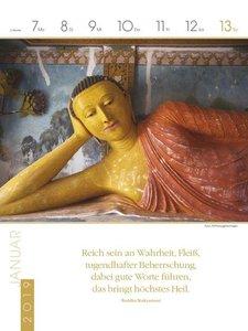 Buddhistische Weisheiten 2019 Literatur-Wochenkalender