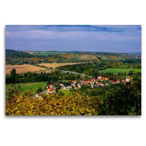 Premium Textil-Leinwand 120 cm x 80 cm quer Saaletal