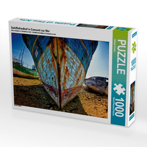 Schiffsfriedhof in Camaret sur Mer 1000 Teile Puzzle quer