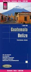 Reise Know-How Landkarte Guatemala, Belize 1 : 500 000