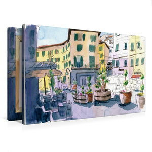 Premium Textil-Leinwand 75 cm x 50 cm quer Portoferraio