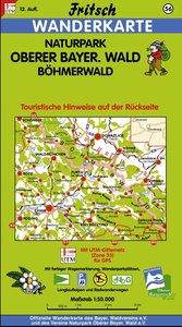 Naturpark Oberer Bayerischer Wald / Böhmerwald 1 : 50 000. Frits