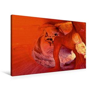Premium Textil-Leinwand 90 cm x 60 cm quer Windstone Arch, Valle
