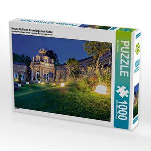 Neues Schloss Eremitage bei Nacht 1000 Teile Puzzle quer