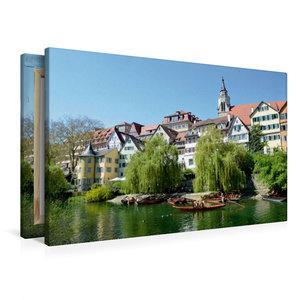 Premium Textil-Leinwand 90 cm x 60 cm quer Tübingen