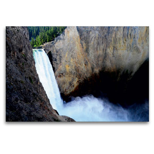 Premium Textil-Leinwand 120 cm x 80 cm quer Der Yellowstone Wass