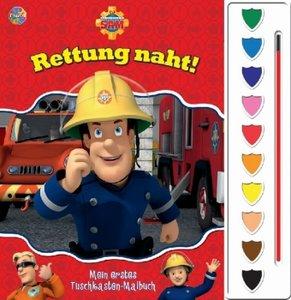 Feuerwehrmann Sam, Malbuch + Tuschkasten + Pinsel