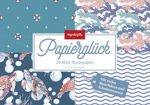 Papierglück - Motivpapier-Blöcke (blau)