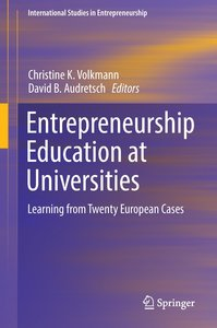 Entrepreneurship Education at Universities