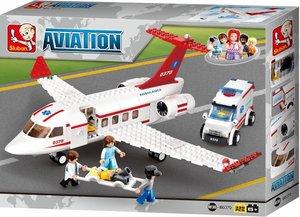 Sluban AVIATION M38-B0370 - Rettungsflugzeug, 335 Teile
