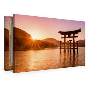 Premium Textil-Leinwand 75 cm x 50 cm quer Itsukushima Schrein i